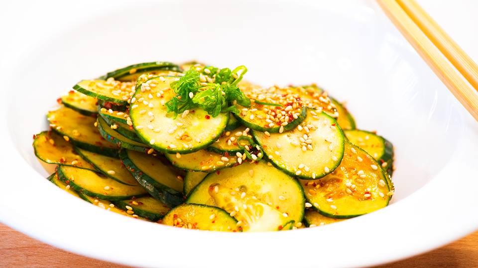Korean Spicy Cucumber Kimchi Salad