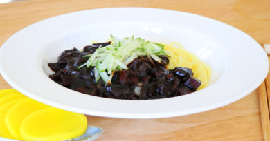 Korean Black Bean Sauce Noodles, Jajangmyeon