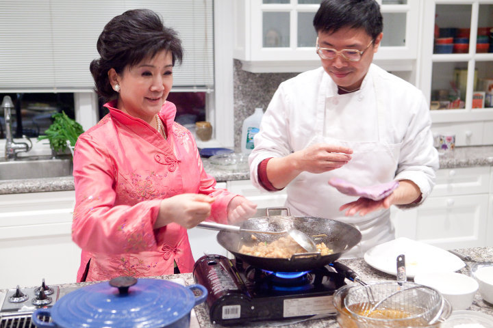 Yu Xin and Chef Mike