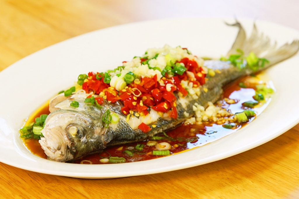 chilies steamed fish