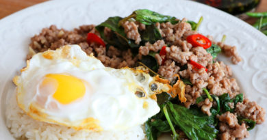 Thai Basil Pork Stir-Fry, Pad Kra Pao Moo